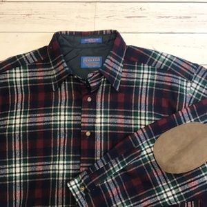 Pendleton Plaid wool shirt size Large